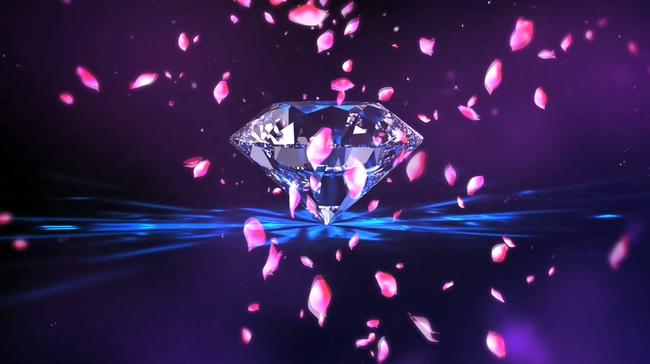 钻石粉色玫瑰花瓣背景视频素材