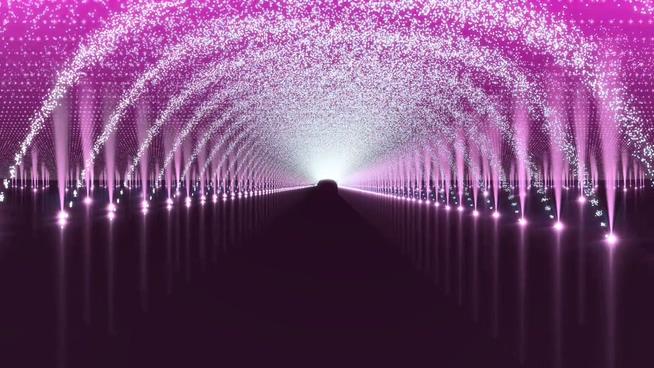 紫色灯光拱门背景视频素材