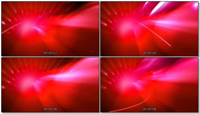 动感红色光波背景视频素材