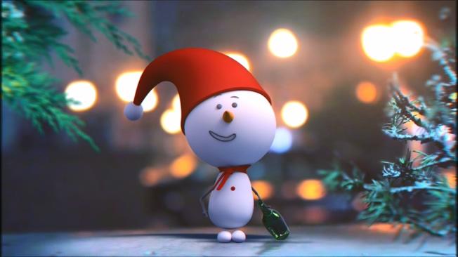 圣诞可爱小人音乐背景视频