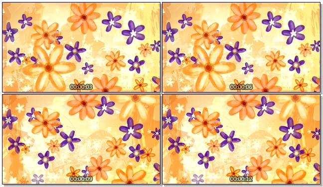 金色手绘花卉背景视频素材
