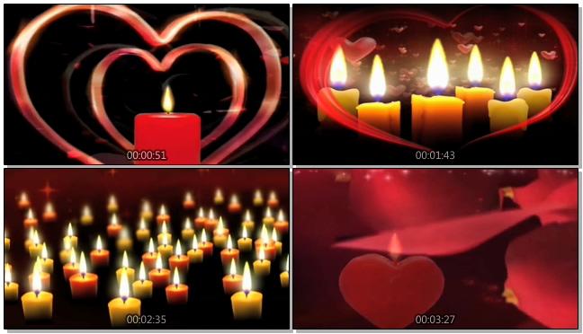 感恩父母爱心蜡烛教师音乐背景视频模板