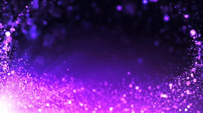 浪漫唯美紫色粒子背景视频素材