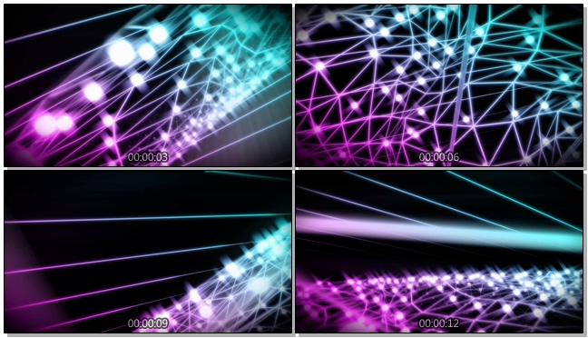 唯美梦幻的彩色灯光转动视频素材
