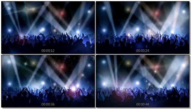震撼炫酷的音乐晚会现场举手视频素材