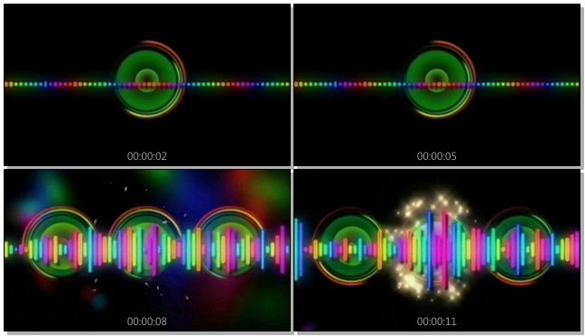 时尚动感的彩色音频跳动视频素材