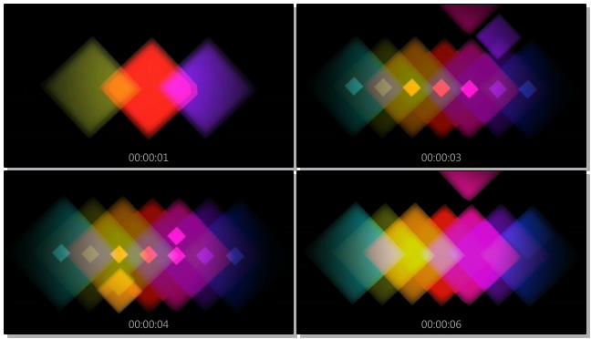 时尚动感的彩色灯光形状跳动视频素材