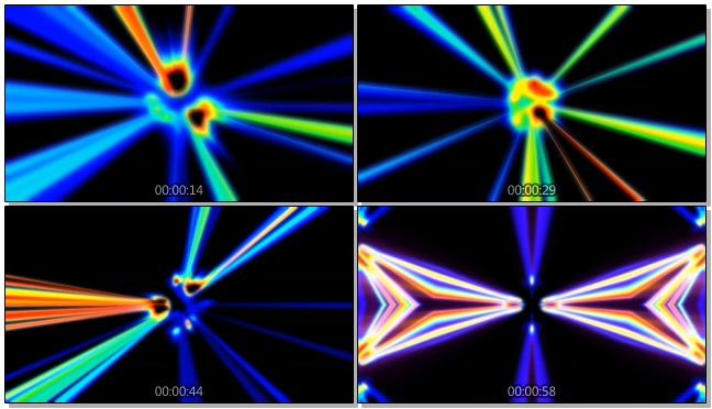 动感炫酷的脉冲光束闪烁视频素材