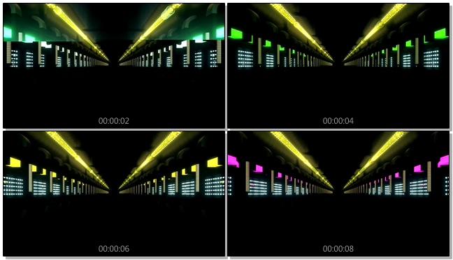 炫酷的街道灯光闪烁视频素材