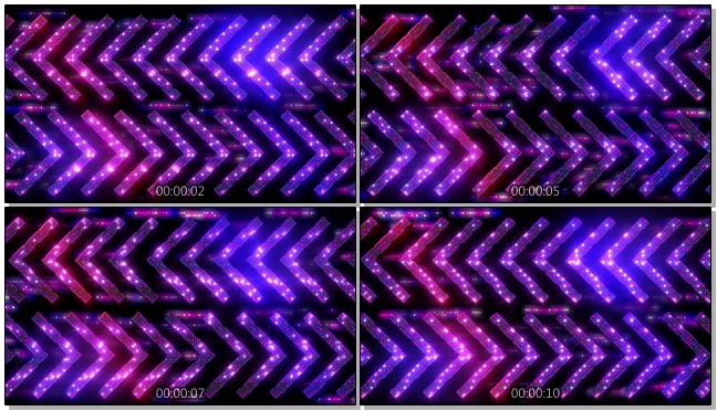 时尚炫酷的彩色灯光闪耀箭头视频素材