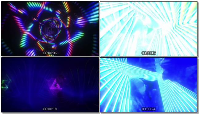 时尚炫酷的动感光线影射视频素材