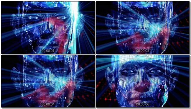 3D水晶片酒吧灯光闪烁视频素材