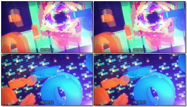 时尚炫酷的彩色字母跳动视频素材