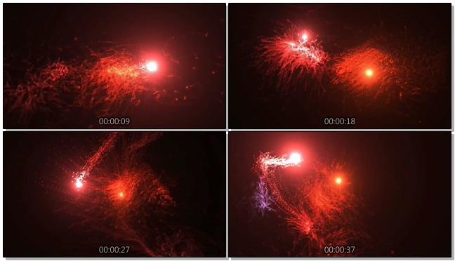 时尚动感的红色灯光闪烁视频素材