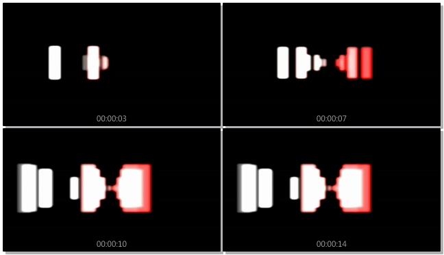 时尚动感的红白灯光交替闪烁的视频素材