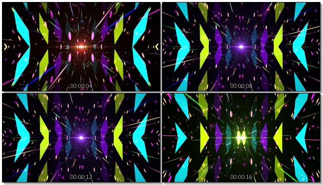 时尚炫酷的彩色射线视频素材