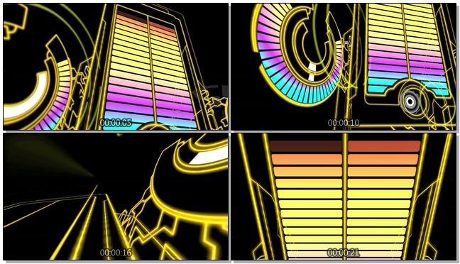 炫酷灯光模拟音频跳动的视频素材