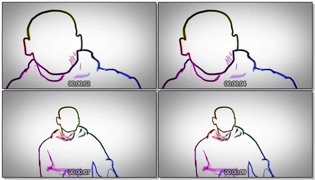 时尚动感的嘻哈mg动画人物宣传视频素材