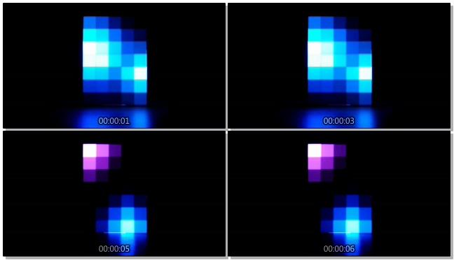 时尚动感的彩色灯柱交替闪烁的视频素材