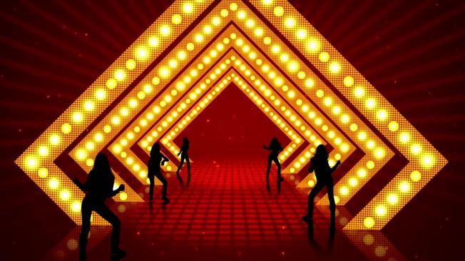 动感绚丽的灯光隧道晚会开场视频素材