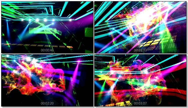 动感炫丽的舞台灯光炫彩粒子视频素材