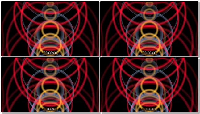 时尚动感的彩色光圈旋转视频素材