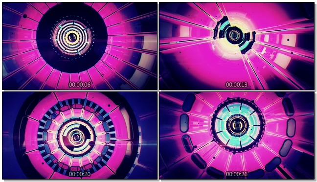 时尚炫酷的3D隧道动感音乐灯光视频素材