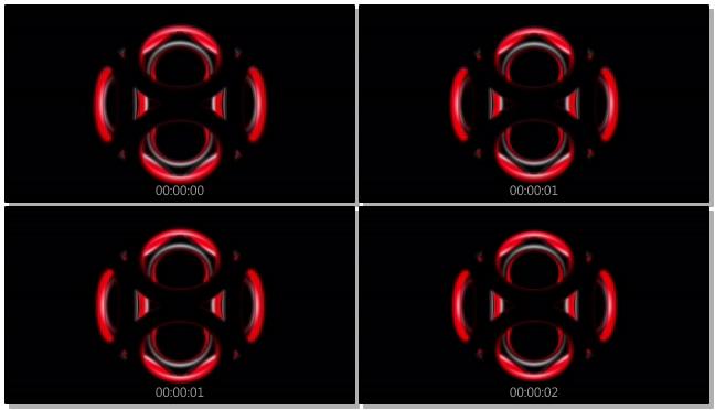 动感的红色光线跳动视频素材