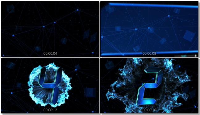 科技10秒震撼倒计时音乐背景视频素材