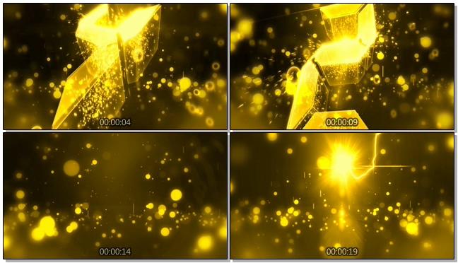 金色震撼5秒倒计时音乐背景视频素材