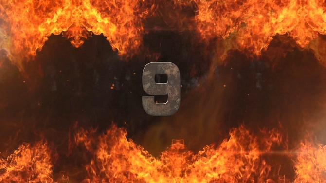 倒计时火焰音乐背景视频素材