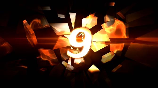 震撼火焰倒计时音效背景视频素材