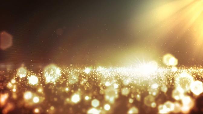 金色无尽的魅力光点粒子视频素材