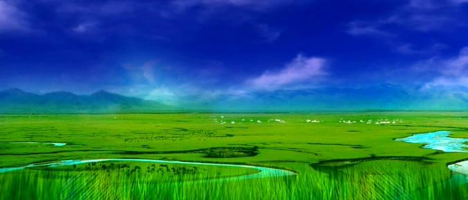 高清蒙古草原背景视频素材