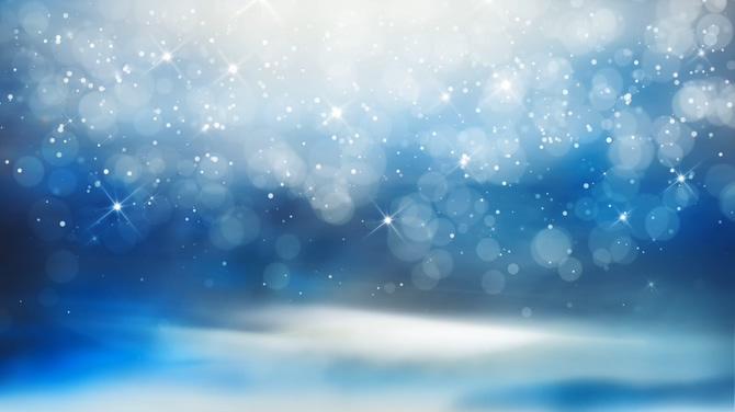 唯美蓝色粒子视频素材