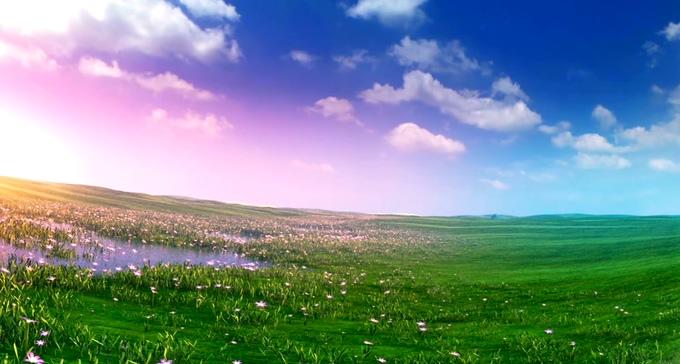 浪漫大草原漫游背景视频素材