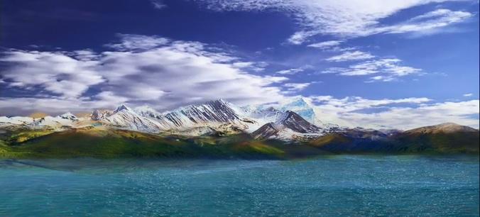 天域青藏高原西藏背景视频素材
