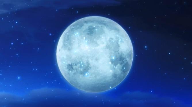 庆中秋的圆月亮星光闪烁视频素材