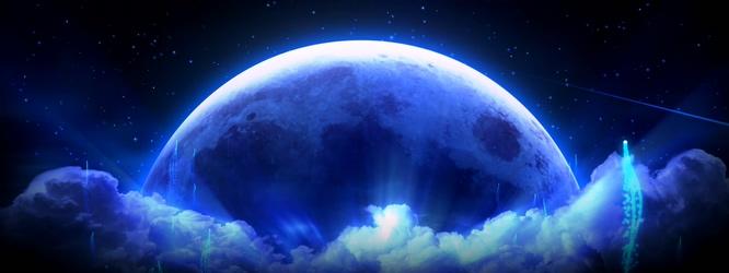 唯美梦幻的蓝色宇宙星空粒子升空的视频素材