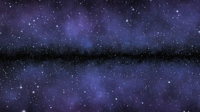 浪漫唯美的紫色星空星光闪烁视频素材