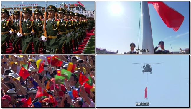 庄严神圣的阅兵仪式空军献礼视频素材