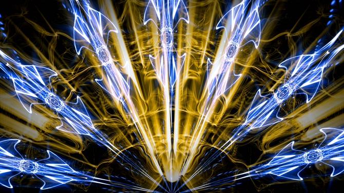 蓝色白色透明炫酷光效视频素材