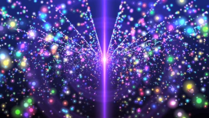 紫色绚丽粒子视频素材