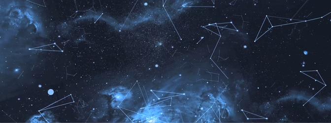 唯美梦幻的星空连线视频素材