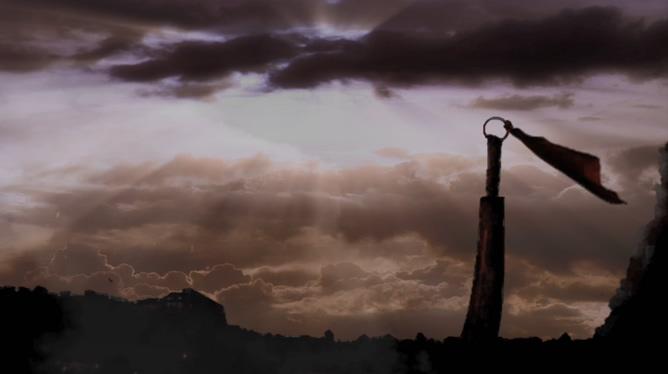 太行山上硝烟四起的历史变迁视频素材