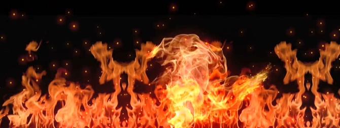 不规则火焰燃烧的视频素材