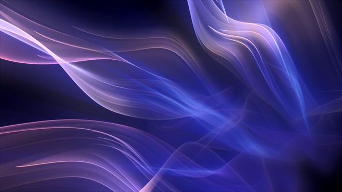 紫色飘带梦幻极光视频素材
