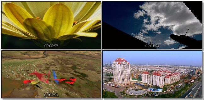 航拍祖国大好山河的视频素材