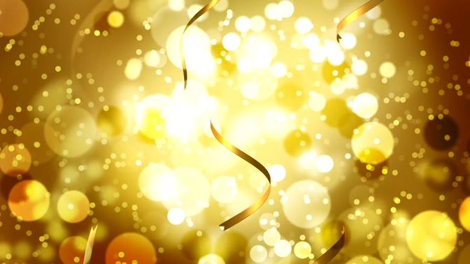 金色粒子彩带视频素材