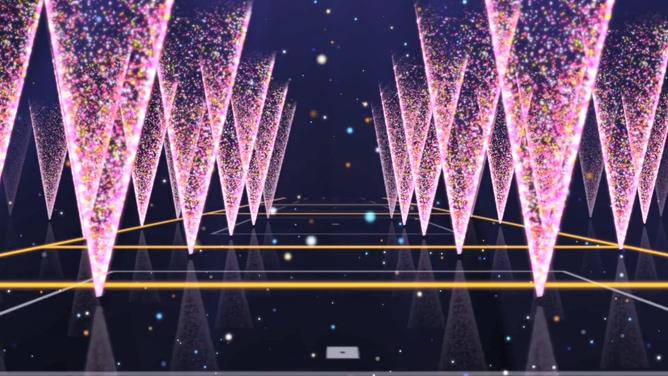 粉色绚丽粒子空间视频素材